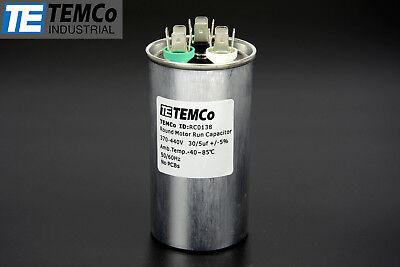 Temco 305 Mfd Uf Dual Run Capacitor 370 440 Vac Volts Ac Motor Hvac 305