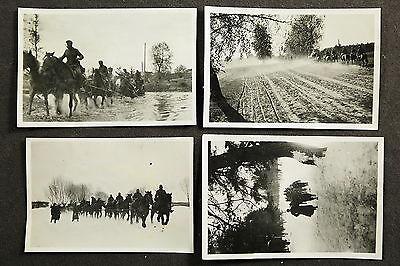 deutsche Soldaten mit Pferden in Russland - Wehrmacht 4 Fotos /R13,3
