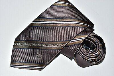 Men's Versace Brown  100%Silk Tie made in Italy