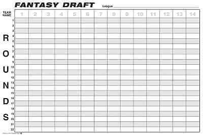 Fantasy Football Draft Board FREE SHIPPING