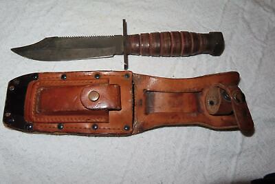 VINTAGE CAMILLUS N.Y. PILOT SURVIVAL KNIFE 2-1984 USED