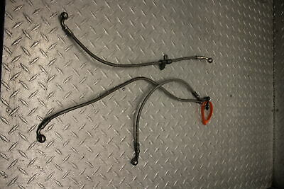 2012 TRIUMPH DAYTONA 675 FRONT AND REAR BRAKE CALIPER HOSES LINES