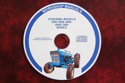 Ford 2000 3000 4000 5000 7000 Tractor Workshop Service Repair Manual Parts Cat