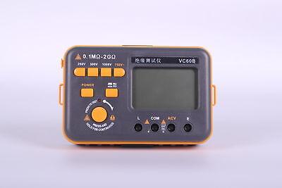 Digital Insulation Resistance Tester Vc60b Megohm Megohmmeter Meters