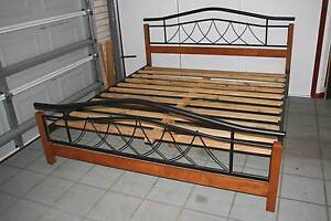 King Size Wood and Metal Bed, excelent condition, as NEW Bridgeman Downs Brisbane North East Preview