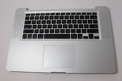 "Apple A1286 Mac Book Pro 15"" Top case/Palmrest Keyboard 2010 2011 2012 Grade A, used for sale  Shipping to India"