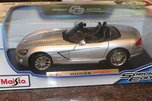 DIECAST CAR - DODGE VIPER SILVER CONVERTIBLE Thornleigh Hornsby Area Preview