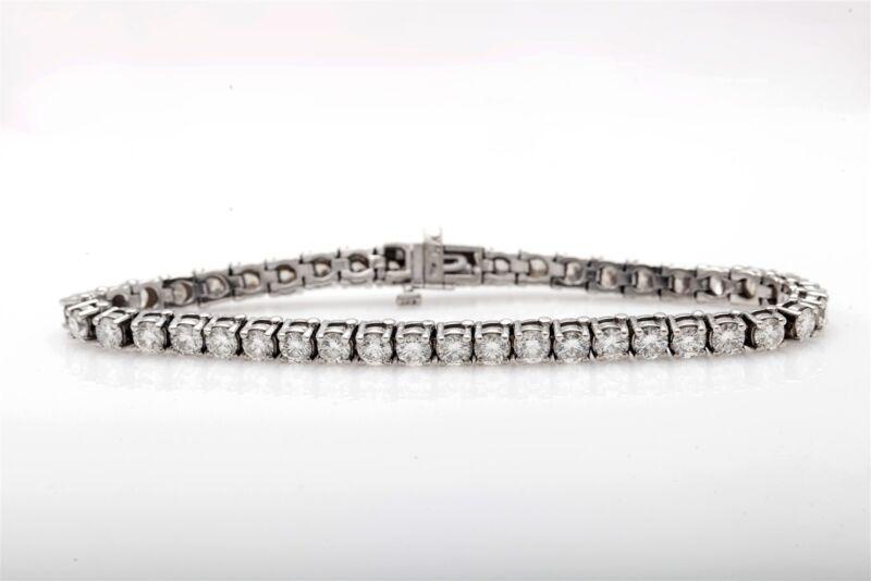 Estate $25,000 10ct Vs H Diamond 14k White Gold Tennis Bracelet High Grade
