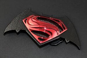 BATMAN VS SUPERMAN BLACK RETRO BELT BUCKLE DC COMICS SUICIDE SQUAD SUPERHERO
