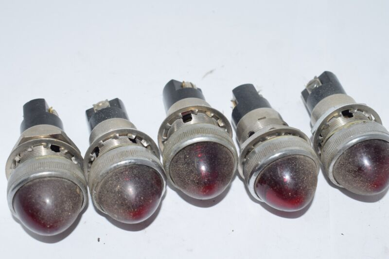 Lot of 5 Dial Co. NY 75W 125V Indicator Light Red