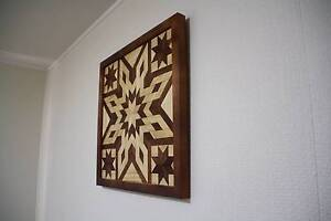 Wooden Wall Art Quilt Pattern Mount Lofty Toowoomba City Preview