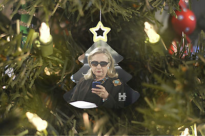 Hillary Clinton Christmas Tree Ornament