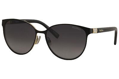 Max Mara Women's Diamond-V/S D16HD Matte Black Fashion Round Sunglasses (Maxmara Sunglasses)