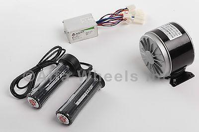 350 W 24 V Dc Electric Motor Kit W Speed Controller Twist Throttle