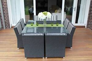 WICKER DINING SETTING,8 SEAtS,STUNNING EUROPEAN STYLED,B/NEW Rocklea Brisbane South West Preview
