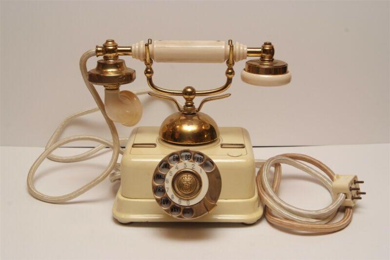A33 Antique Vintage Rotary Kjobenhavns Telefon Aktieselskab Telephone Denmark