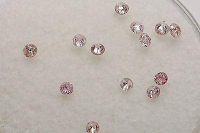 $3000 Natural LIGHT FANCY PINK .33ct Diamond Round LOOSE Lot RARE