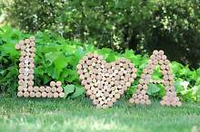 Champagne & Wine Corks Heart Letters Wedding Decorations Wollstonecraft North Sydney Area Preview