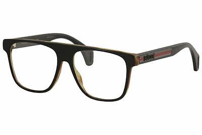 Gucci Men's Eyeglasses Seasonal-Icon GG0465O GG/0465/O 002 Black Optical (Iconic Glasses Frames)