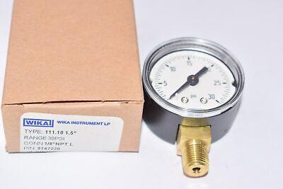 New Wika Type 111.10 1.5 Pressure Gauge - 30 Psi