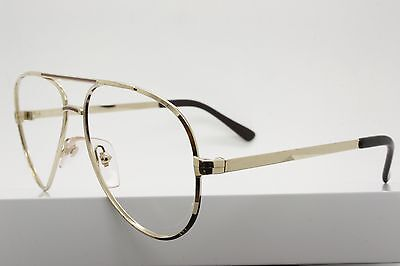 Comet 743 Col. 54 Gold Aviator Eyeglasses Made in USA - Gold Comet