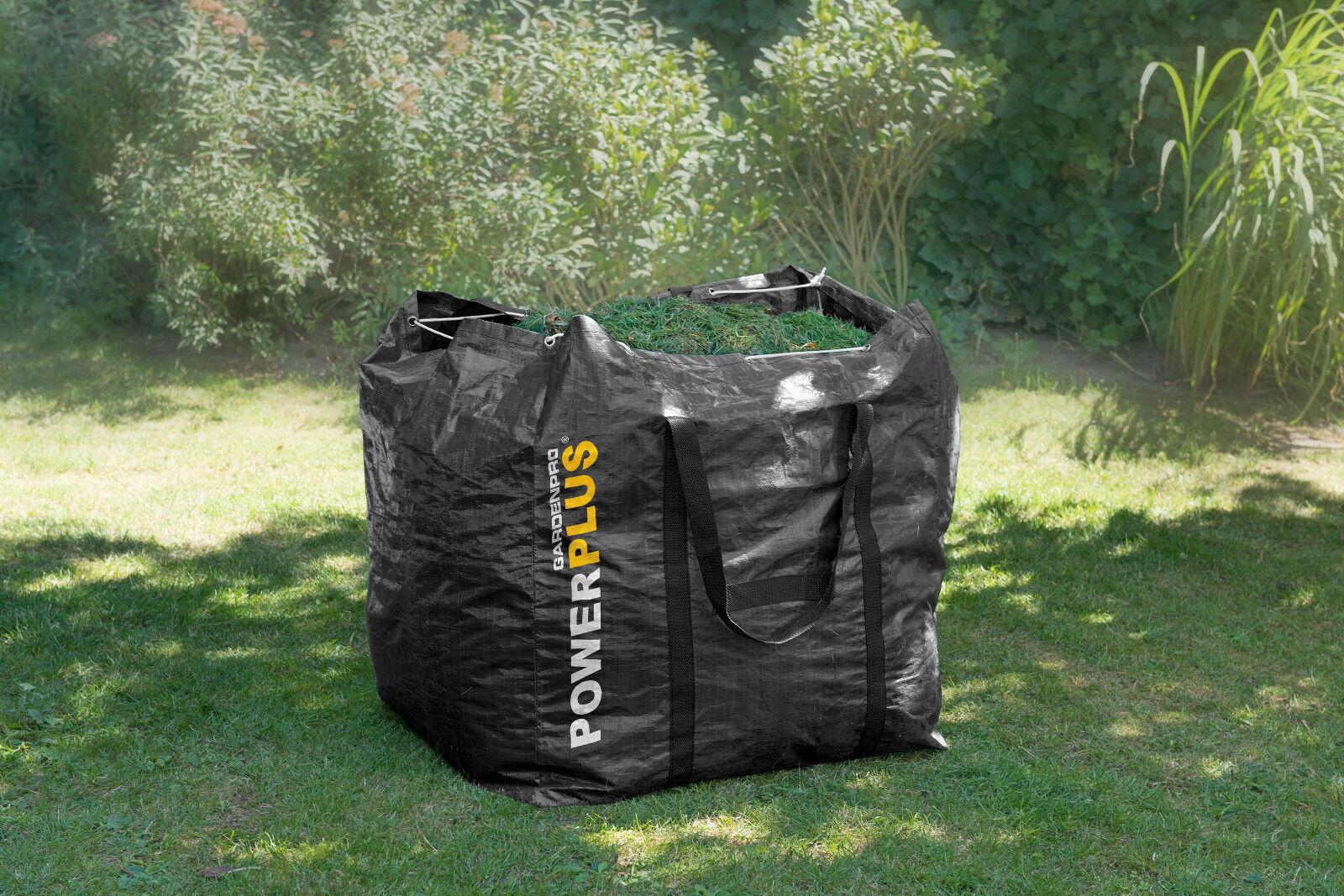 Sacco giardino 270 LT con manici cesto raccogli foglie erba contenitore rifiuti