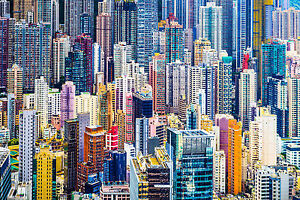 STUNNING HONG KONG CITYSCAPE METROPOLIS #432 CANVAS PICTURE WALL ART A1