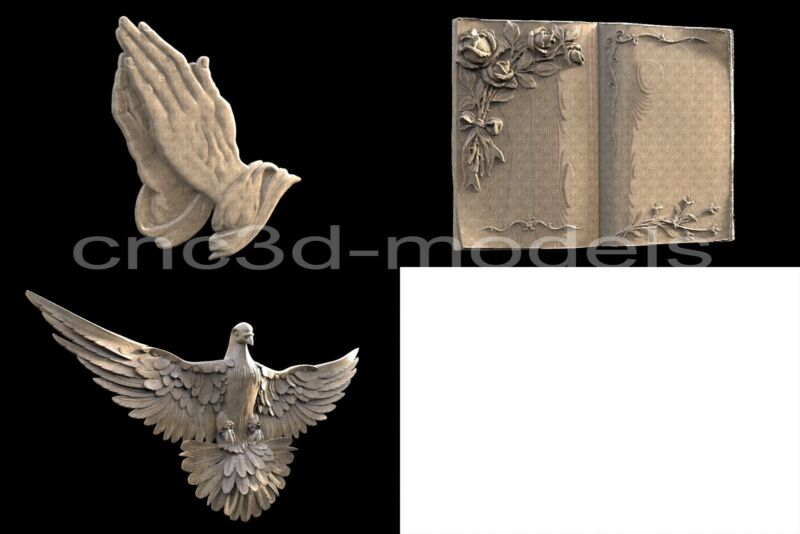 3D Model STL for CNC Router Engraver Carving Relief Artcam Aspire Hand 183