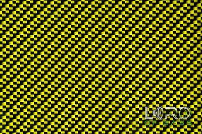 Hydrographic Water Transfer Hydrodipping Film Hydro Dip Yellow Carbon Fiber
