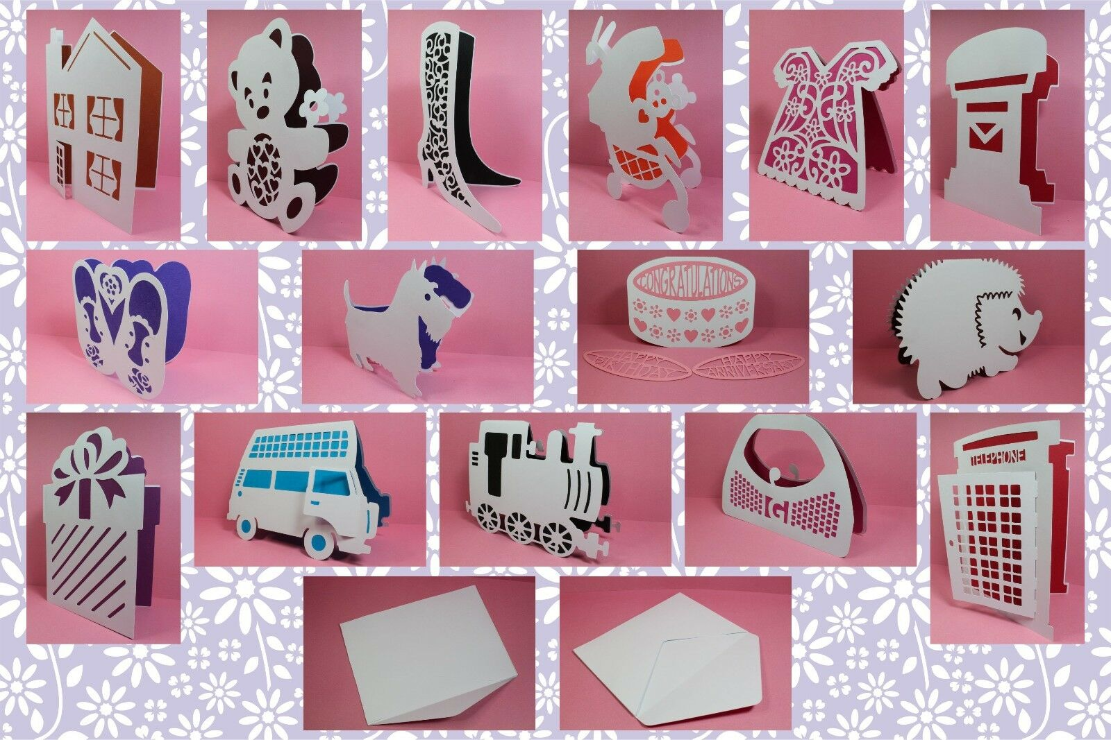 Brother ScanNCut Everyday shaped card & insert templates CD1057