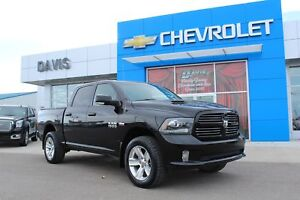 2015 RAM 1500 Sport LEATHER, HEATED AND COOLED SEATS