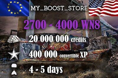 World Of Tanks (WOT)  20 MIL. 400.000 XP UNICUM PLAY   5 DAYS   NOT BONUS CODE  
