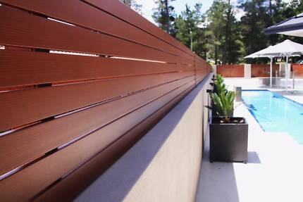 Perth Aluminium slat fencing and gate Frameless Pool fence