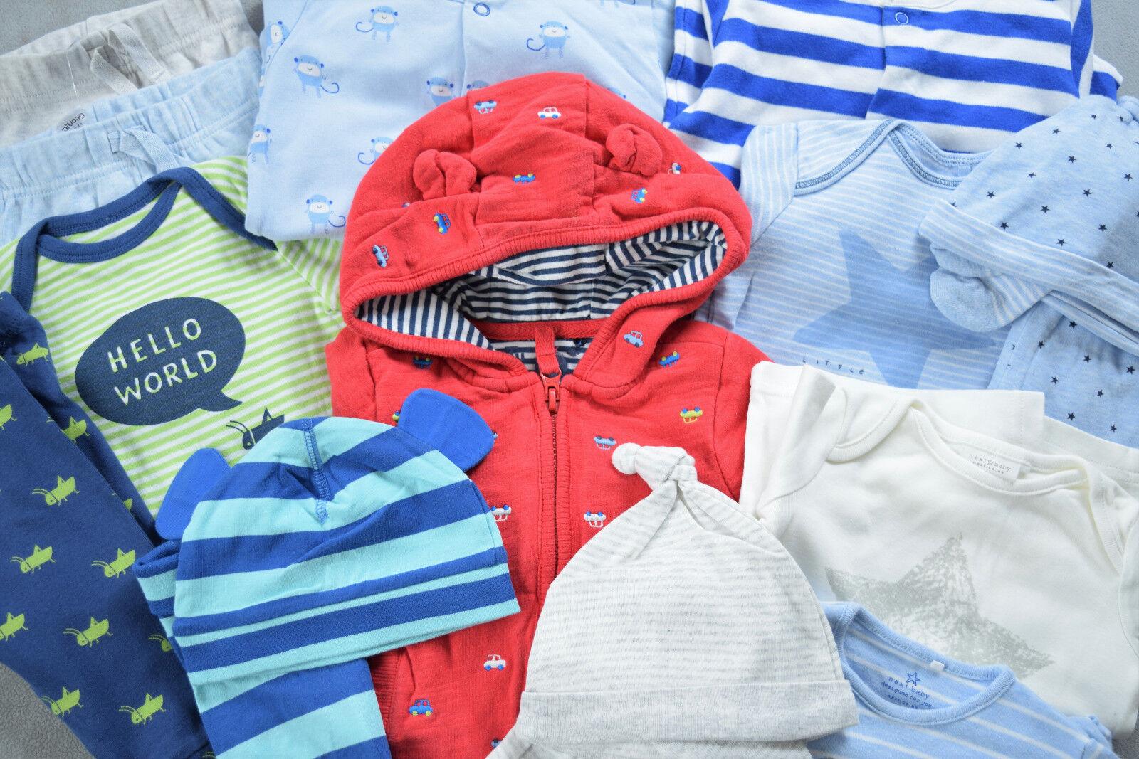 47-tlg. Paket 62@68 Erstausstattung Baby Kleidung Sachen H&M Next Junge Sommer