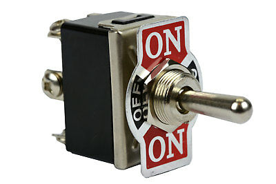 Heavy Duty Toggle Switch 20a 125v On-off-on Dpdt 6 Terminal Momentary 1 Side