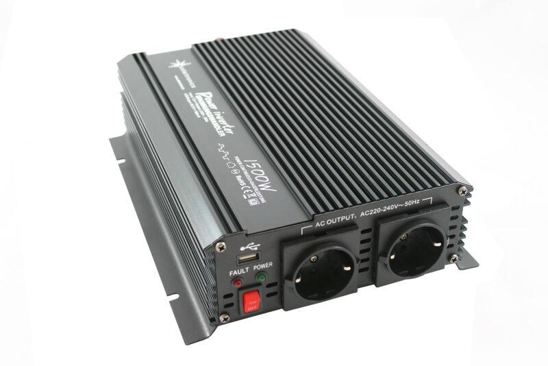 Spannungswandler 1500 3000 Watt 12V 230V Wechselrichter Softstart CE E8 NEU OVP