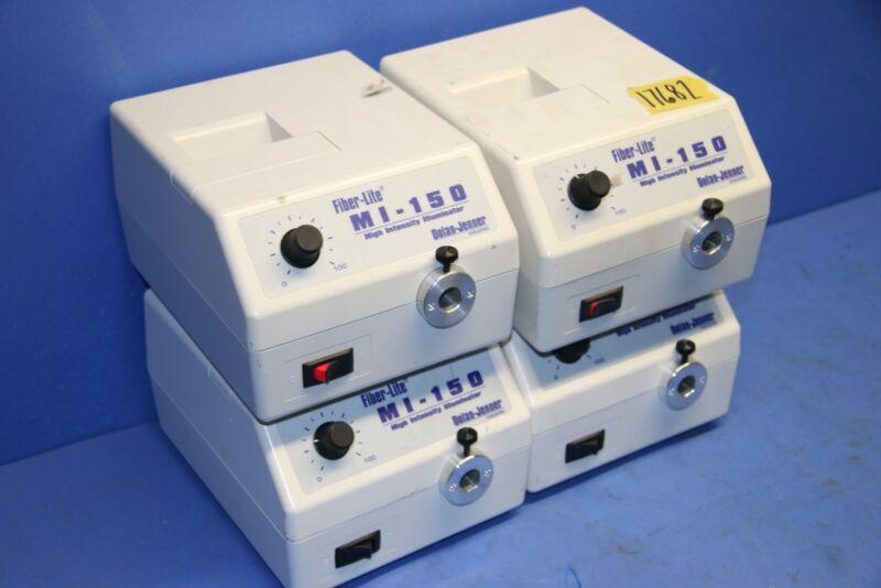 4 Used Dolan Jenner MI-150 Fiber Lite High Intensity Illuminator 17682