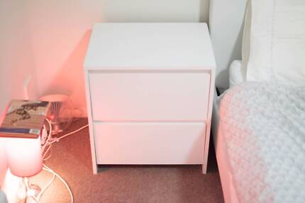 White Bedside Table x2