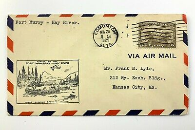 1929 Canadian First Flight Commemorative Covers Ft McMurray-Hay River Env 970B