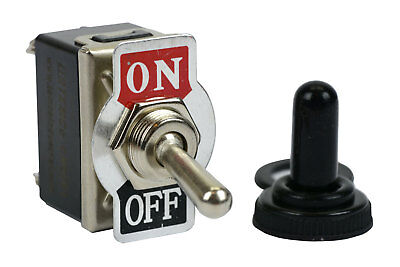 Temco 20a 125v On-off Dpst 4 Terminal Toggle Switch W Waterproof Boot Cap