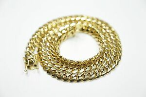 Solid Miami Cuban link gold chain