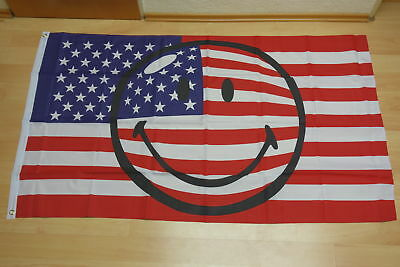 Fahnen Flagge Smiley USA - 90 x 150 cm