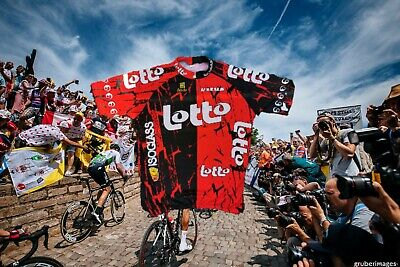 Vintage Retro Lotto Isoglas Vitus1995 Cycling Jersey Sibille 7 XXL