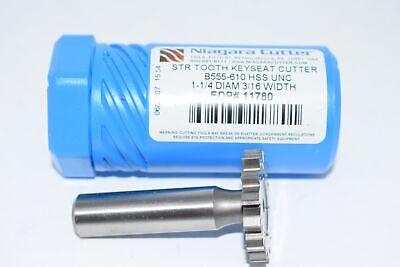 New Niagara Cutter N11780 1-14 316 Width Str Keyseat Cutter