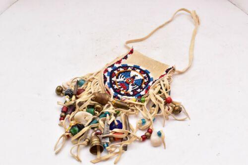 VTG Native American Indian handmade beaded purse~bag~pouch Venetian Trade Beads