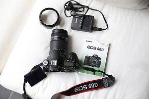 Canon EOS 60D 18.0 MP Digital SLR Camera - Black (Kit w/ EF-S IS Pemulwuy Parramatta Area Preview