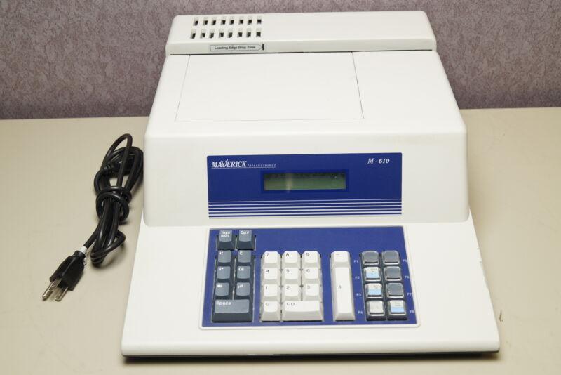 Maverick M-610 Check Encoder MICR Power On Tested