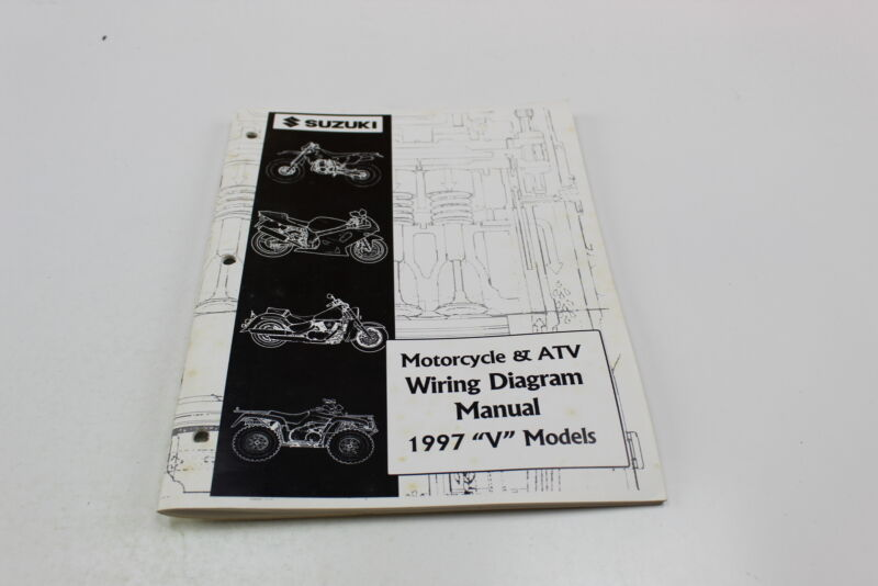 1997 Suzuki V Models Motorcycle  U0026 Atv Wiring Diagram Manual 99923
