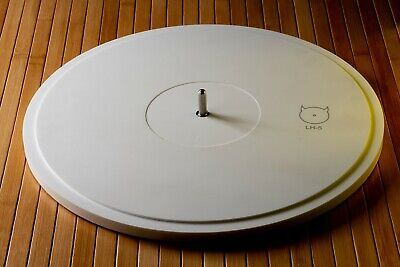 LH-5 mat Turntable Spindle extension with corian platter Lenco Garrard Thorens