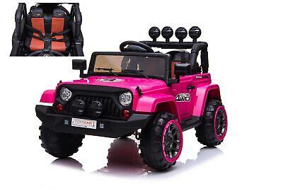 Auto Macchina Elettrica per Bambini Jeep Adventure Rosa 12V MP3 Led con Telecoma